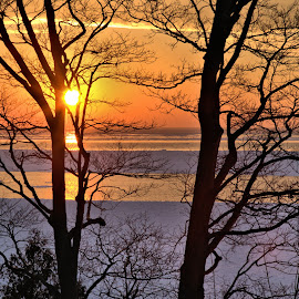 Goderich Sunset 1 by Terry Saxby - Landscapes Sunsets & Sunrises ( water, canada, terry, huron, sunset, goderich, ontario, lake, saxby, nancy )