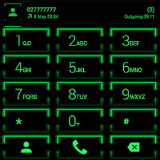 Theme for ExDialer Neon Green