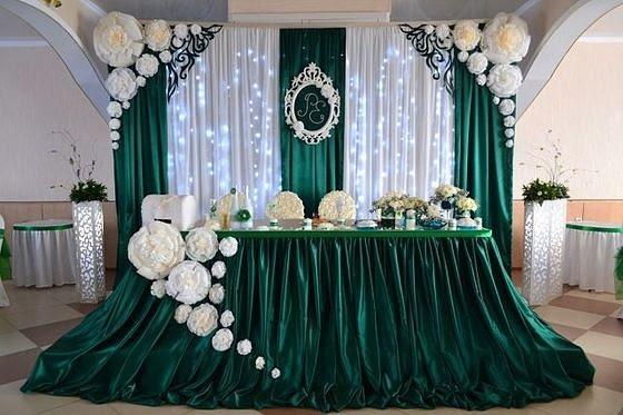 Фото декора свадебного зала