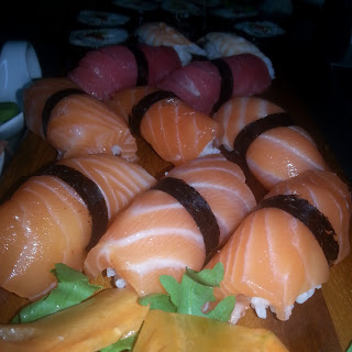 Selected Nigiris(salmon,tuna And Shrimp)