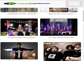 Screenshot of Musica y Letras Cristianas