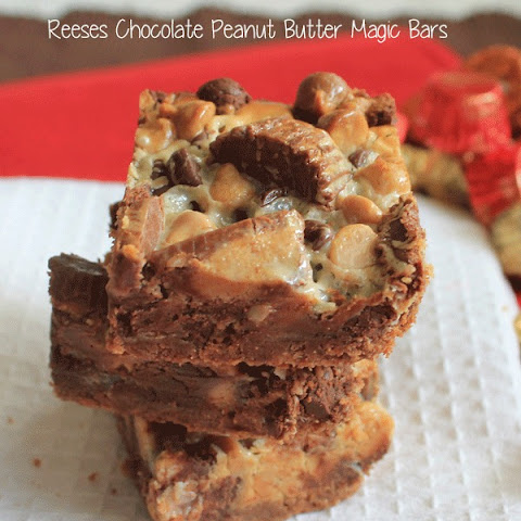 Reeses Chocolate Peanut Butter Magic bars