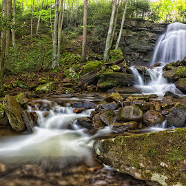 Kates Branch Falls by Kim Wilhite - Landscapes Waterscapes ( kates branch, waterfalls, nature, waterscape, west virginia )