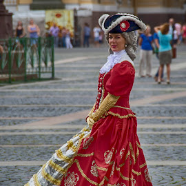 Actress in the Square by Pravine Chester - People Musicians & Entertainers ( photograph, russian, actress, people )