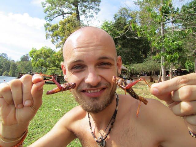 eating bugs Cambodia