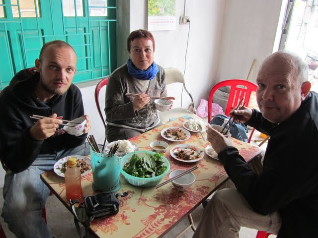 eating goat meat in Vietnam