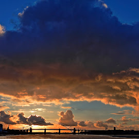 Clouds over the Mersey by AndyandSharon Light - Landscapes Cloud Formations