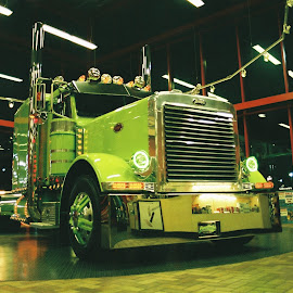 Limelight by Kavori Huffman - Transportation Other ( film, big rig, truck, 35mm, chrome, semi, petro, deisel, limelight, chrome shop mafia, 18 wheeler, joplin petro, fujicolor, joplin )