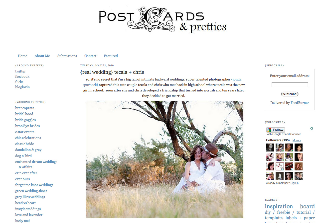 of neat wedding ideas!