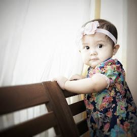 Morning light by Mohd Nazmie Ab Malek - Babies & Children Children Candids ( fashion, beautiful, windows, cute, sunlight, kids portrait, love, girl, dress, lifestyle, baby, smile, light, KidsOfSummer )