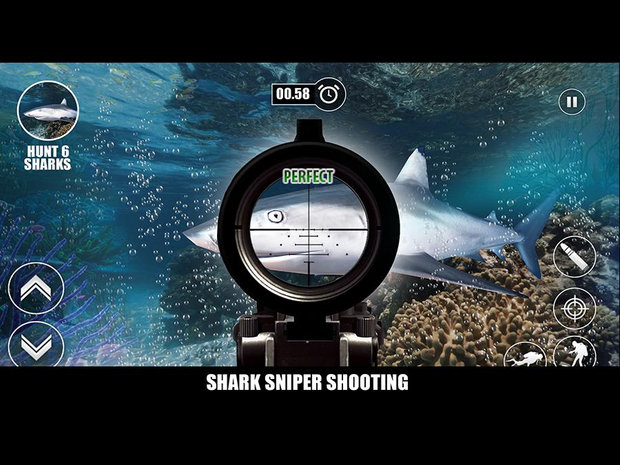 ultimate shark sniper jagd android spiele download. Black Bedroom Furniture Sets. Home Design Ideas