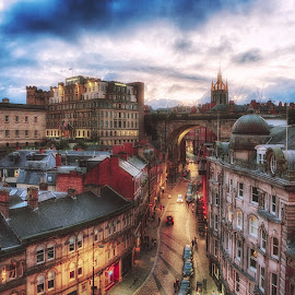 Newcastle's Side by Adam Lang - City,  Street & Park  Historic Districts ( arch, side, tyneside, street, newcastle, city )