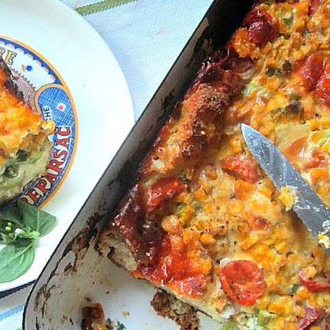 Corn Tomato & Scallion Strata