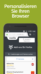 Firefox: privat+sicher surfen Screenshot