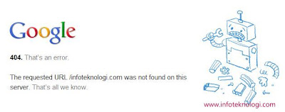 Halaman Error 404 Google