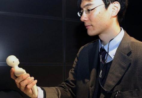Gambar Handphone buatan Jepang teknologi sensor kulit manusia