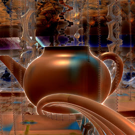 The Legend Of The Bronze Teapot by Rick Eskridge - Illustration Sci Fi & Fantasy ( b/g mb3d, b/g amazing images, mb3d, fractal, twisted brush )