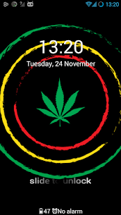 GO Locker Theme Weed Rasta - screenshot