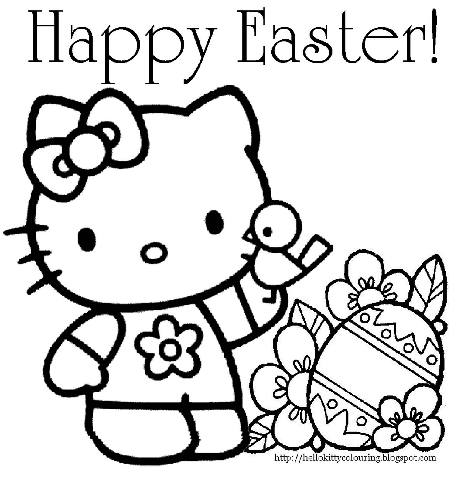 Top 25 Free Printable Hello Kitty Coloring Pages