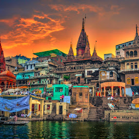 Varanasi by Nayan Shaurya - Buildings & Architecture Places of Worship ( color, colors, varanasi, india, architecture, city )