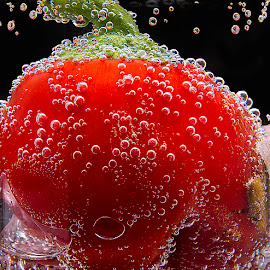 Small red capsicum in ariated water.. by Rakesh Syal - Food & Drink Fruits & Vegetables