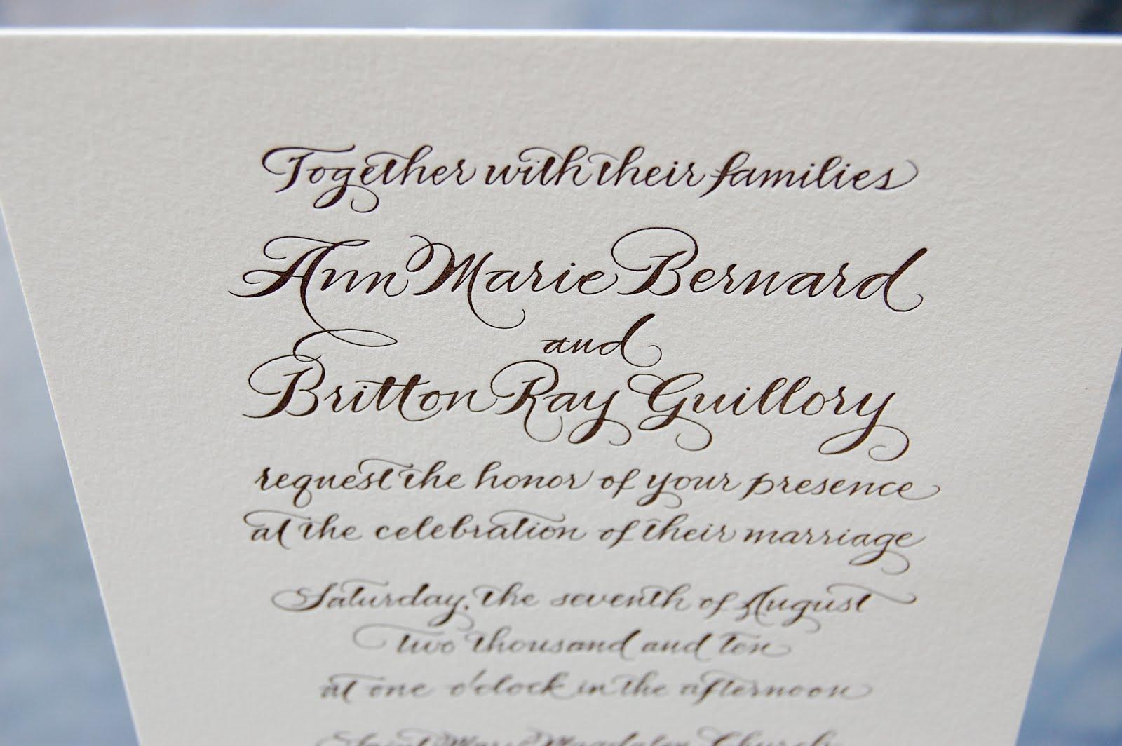 antique wedding invitations