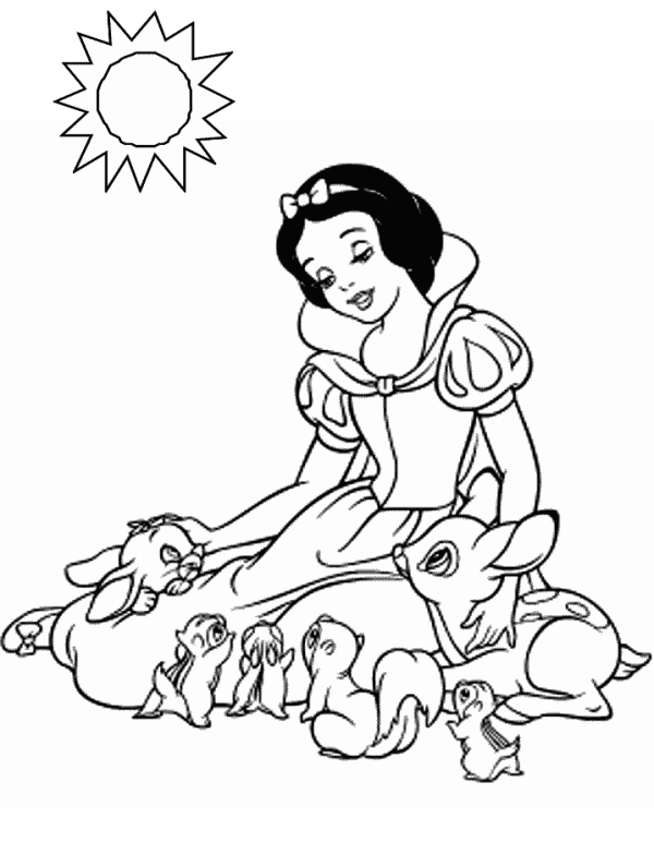Snow White Coloring Book Grimm Brothers, Thea Kliros  - snow white coloring pages