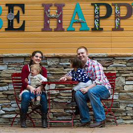 Be Happy, Not by Craig Lybbert - People Family ( unhappy, family, happy, funny, humor, humorous, crying )