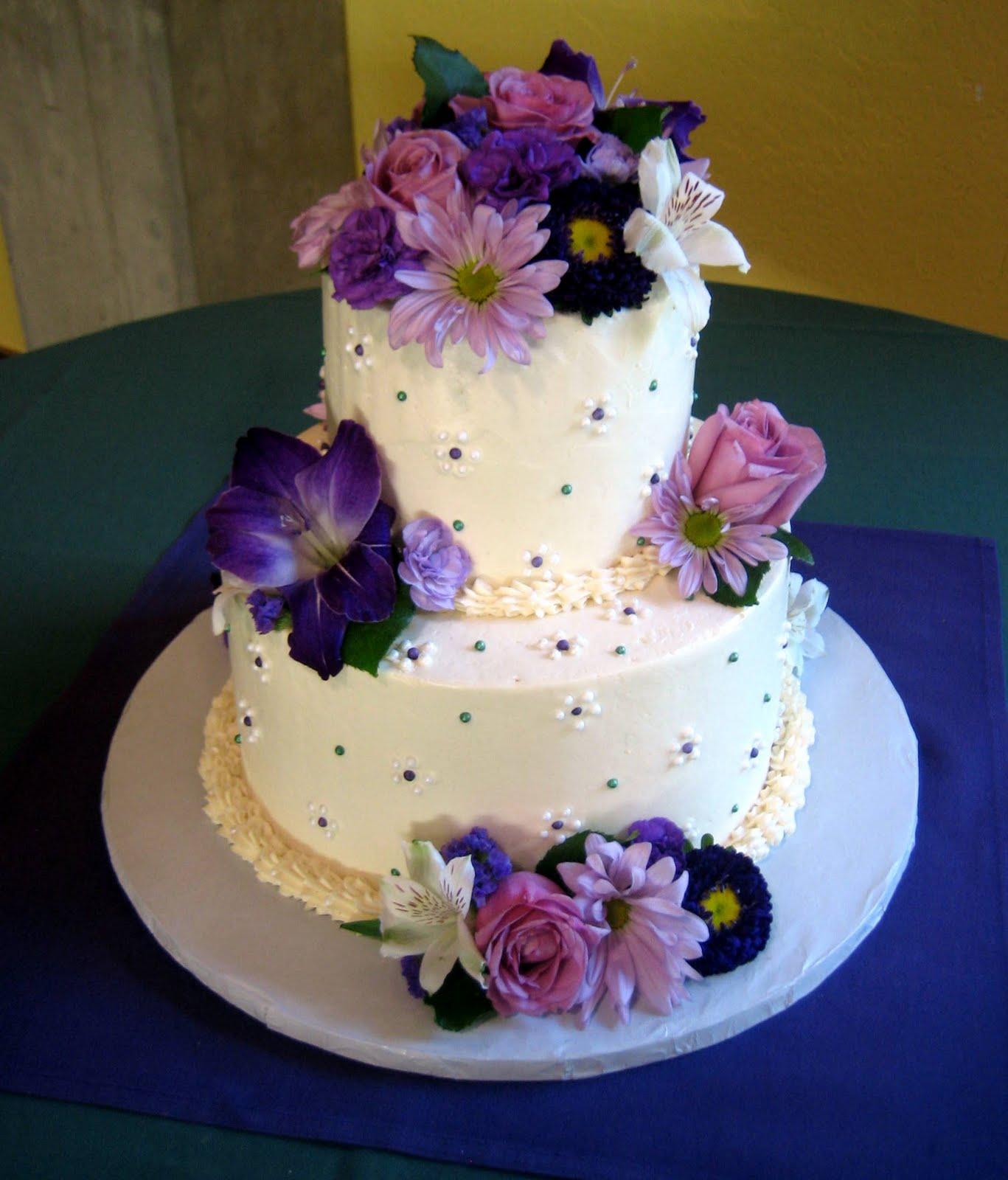 Romantic Purple Floral Wedding