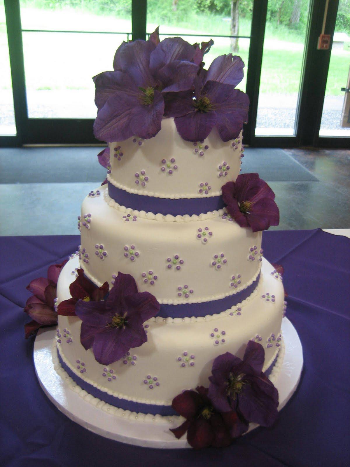 Faustine s blog wedding cake with purple