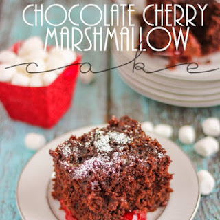 Chocolate Cherry Marshmallow Cake