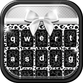 Download Black and White Keyboard Theme APK to PC