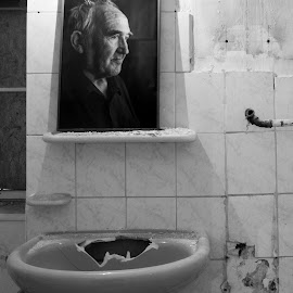 Baden by Dušan Gajšek - Black & White Abstract