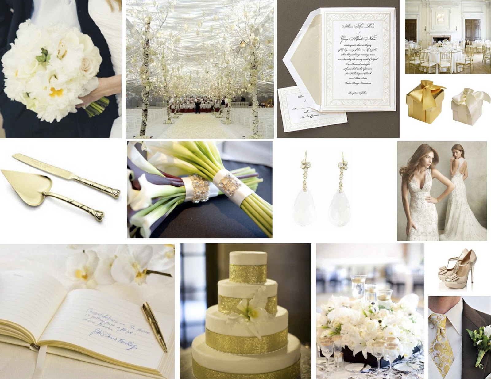 brown and ivory wedding