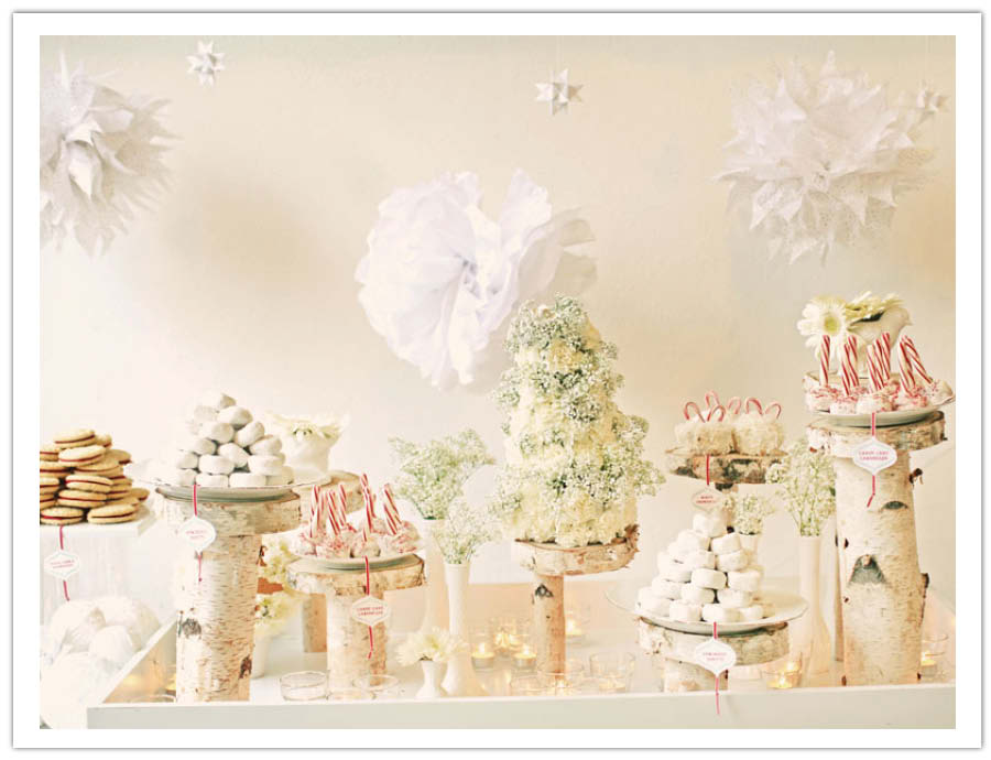 Shabby Chic Holiday Dessert Table