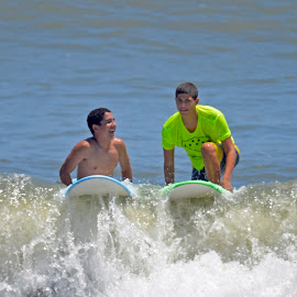 This Wave's for You by Bill Telkamp - Sports & Fitness Surfing ( water, surfing, summer, beach, kids, KidsOfSummer )