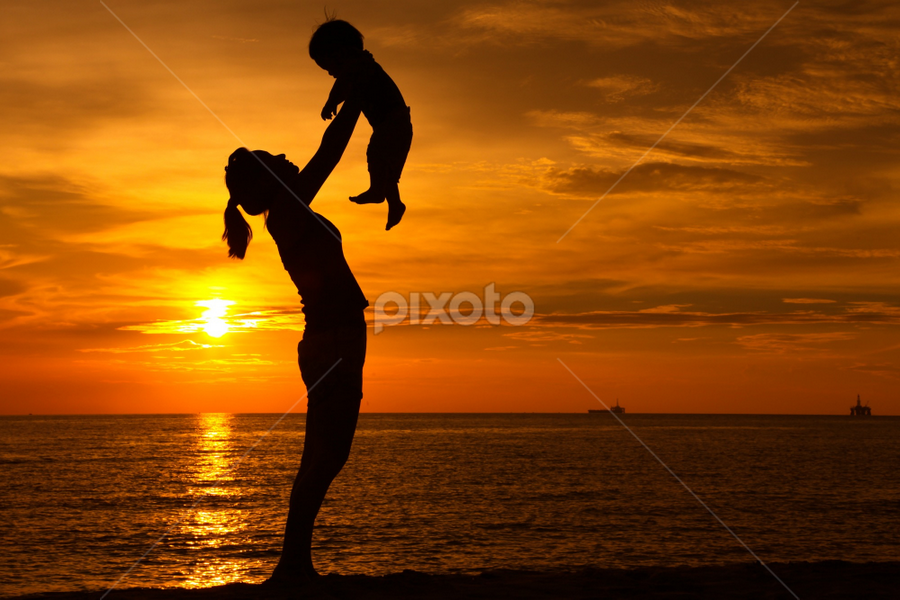 Shadows of my life by Andre Quek - People Family ( mom and kid, mom with kids )