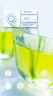 Pale yellow beverage theme - screenshot