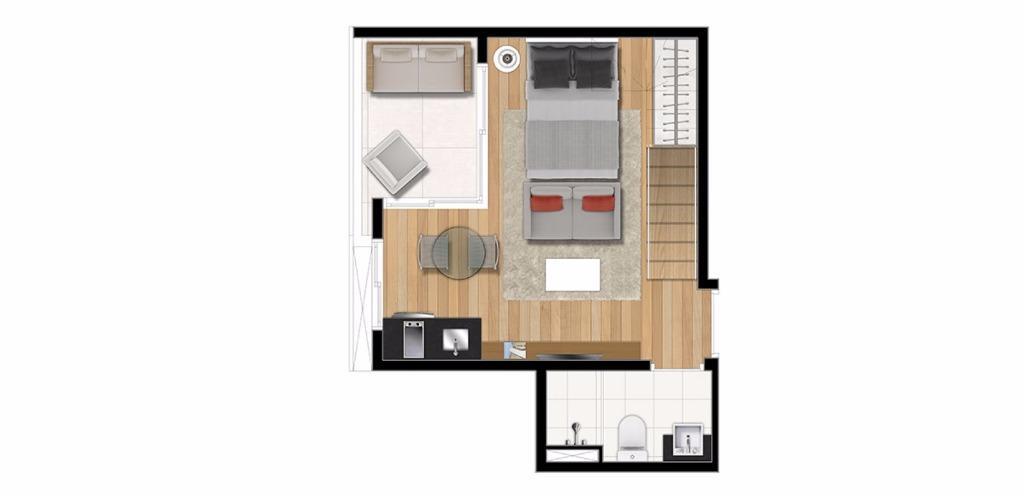 Planta Duplex Inferior 46 m²