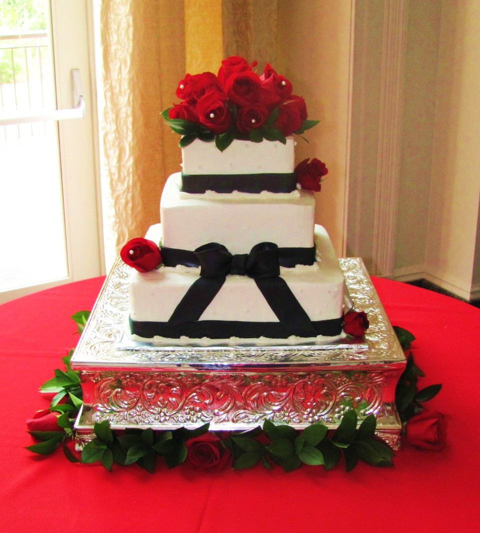 Red, Black, and White Wedding