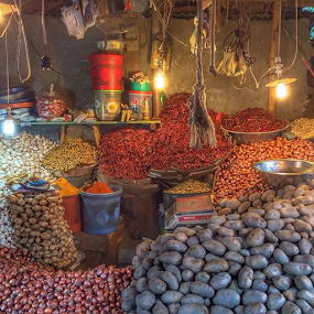 Shop by Shadat Hossain - Instagram & Mobile iPhone ( shop, market, ginger, spice, red chili, potato, spices, chili, onion )
