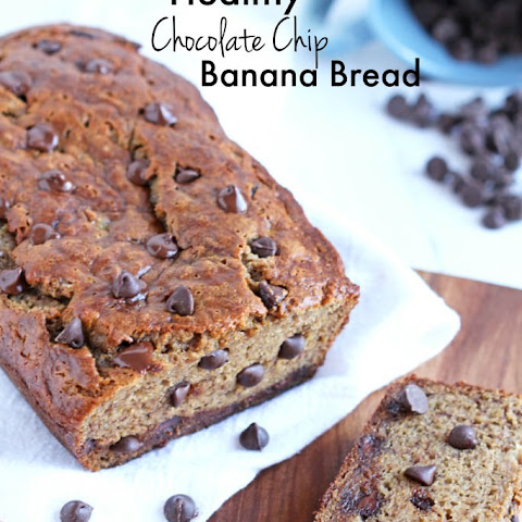 Healthy Banana Bread with Chocolate Chips
