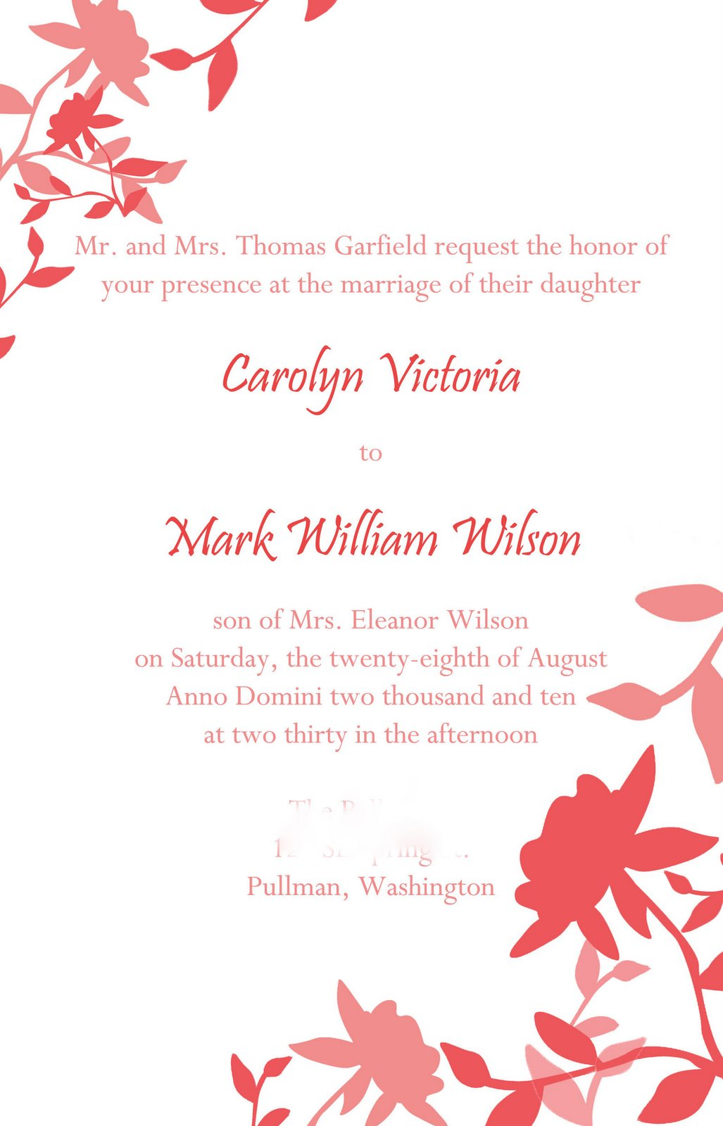 church wedding invites