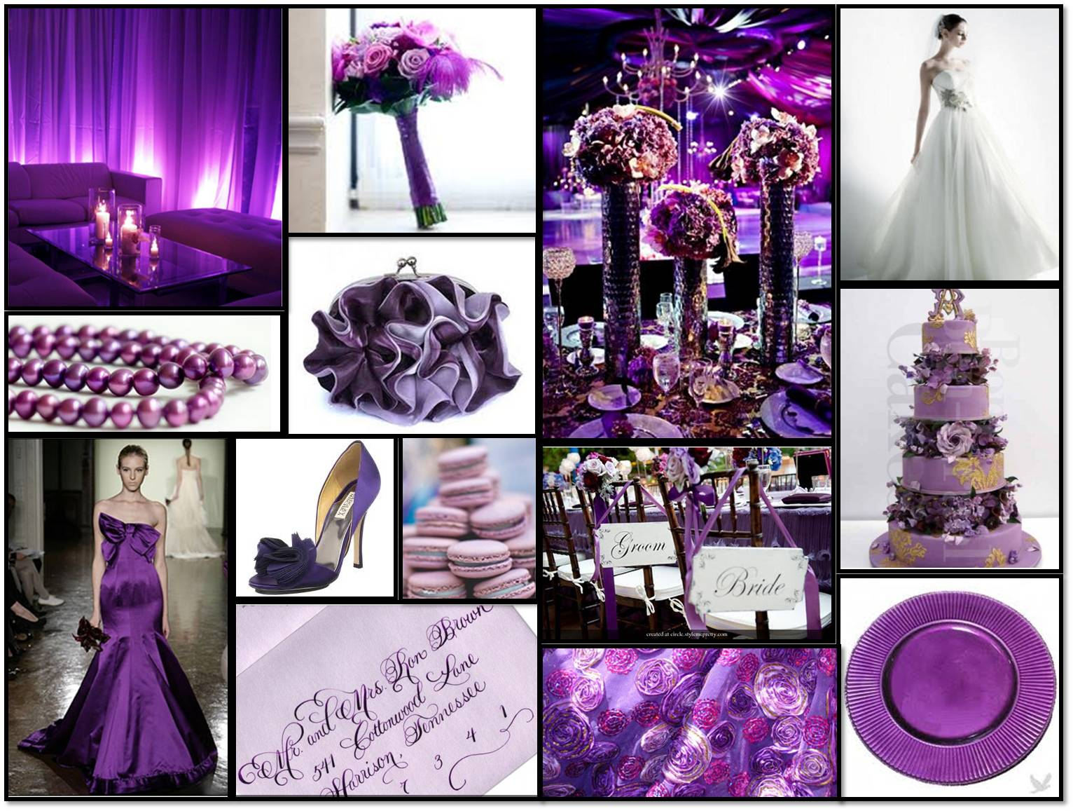 Purple and Grey Wedding | Dress images