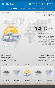 Виджет  Погода и Часы Ad-Free Screenshot