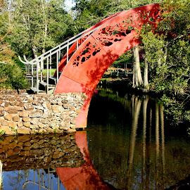 Japeneese Garden Bridge by David Walters - Artistic Objects Other Objects ( al, nature, lumix fz200, artistic, japaneese, bridge, mobile, bellingrath gardeng )