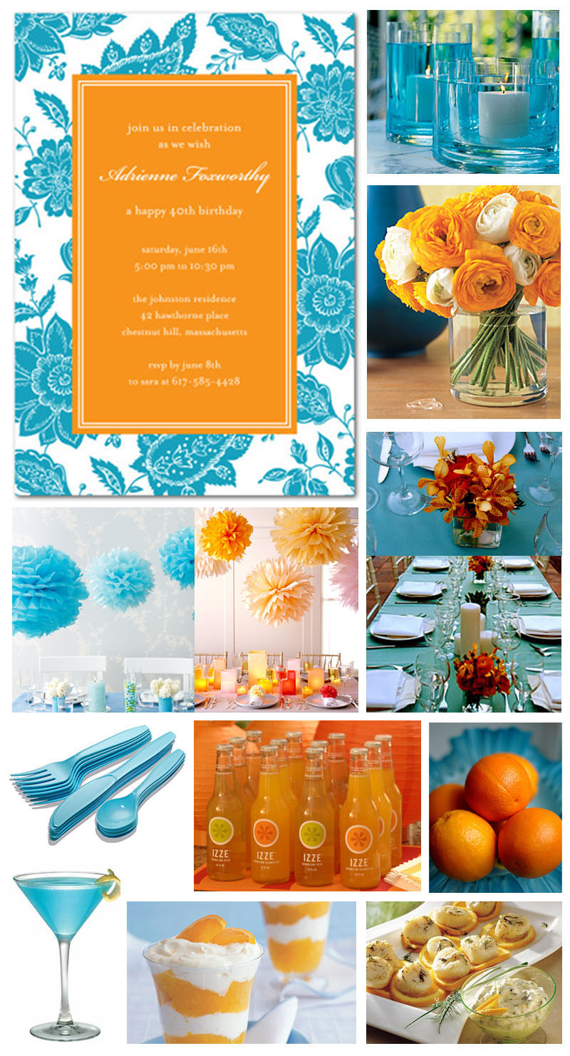 Orange Centerpiece, Blue