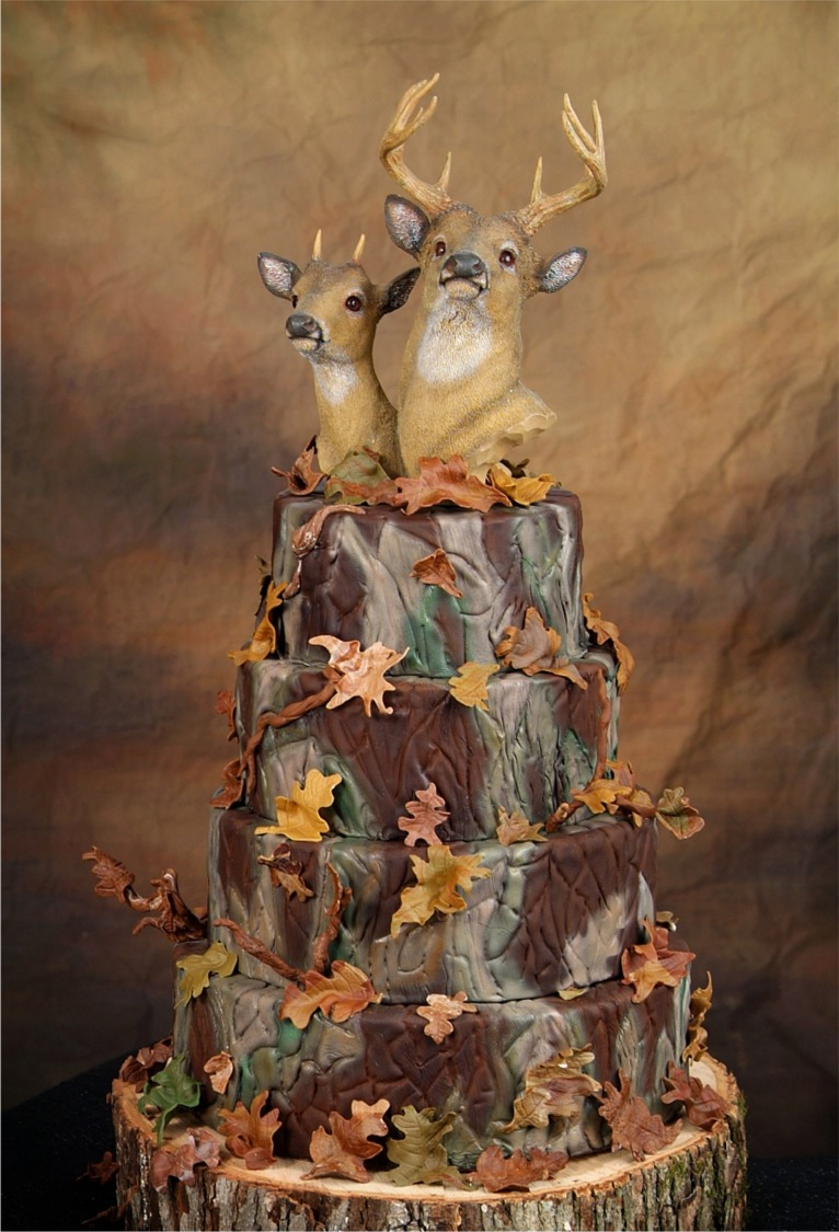 their wedding cake.