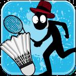 Stickman Badminton Icon