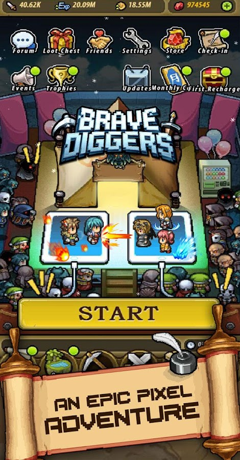 Brave Diggers Screenshot 0